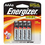 Energizer  Max Alkaline Battery AAA (8pcs)