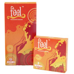 FEEL 3 in 1 Flavoured Condom - Pack of 12